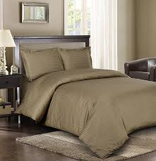 royal hotel stripe taupe 3pc king california king comforter cover duvet cover set