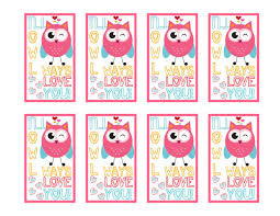 owl valentine s day cards to print. Brilliant Valentine Ill Owl Ways Love You Printable Sheet And Valentine S Day Cards To Print E