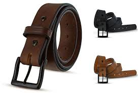 details about hanks everyday no break thick leather belt mens heavy duty belts usa made