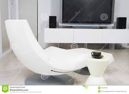 Tv Chairs Living Room Modern Chair And Flat Screen Television In Living Room Stock