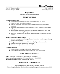 Customer Service Resume Objective Examples Awesome Resume Objective Example 40 Samples In PDF Word