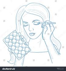 artist applying makeup with a brush on woman face visagiste doing makeup to young