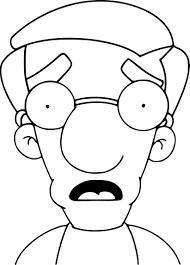 Coloriage Simpson Milhouse Imprimer