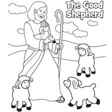 Small Picture The Good Shepherd Easter coloring page Easter Sunday School