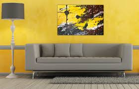 Living Room Yellow Living Room Paint With Grey Couch And Wall Art  Decorating Also Height Stand Lamp Plan Yellow living room designs ideas  with white marble ...
