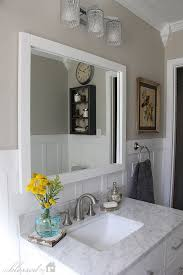 cottage style small bathroom ideas. beautiful cottage-style bathroom makeover | myblessedlife.net. sherwin williams revere pewter on cottage style small ideas a