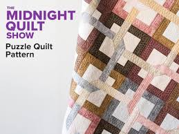 Quilt Patterns Mesmerizing Puzzle Cafe Spice Quilt Pattern Midnight Quilt Show Craftsy