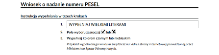 Number - A Legal Three Basis Poland Completion Pesel In Instructions Steps Justask For