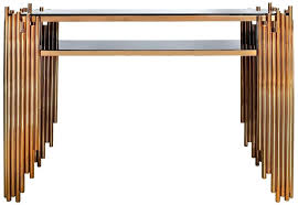 gold console table rose gold metal and glass console table target marble gold console table
