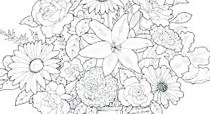 Cool Flower Coloring Pages Free Printable Flowers Coloring Pages