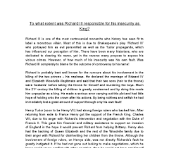how to write an introduction in richard iii essay topics richard iii term paper topics the purpose of this essay is to discuss the extent that richard iii was responsible