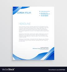 Abstract Blue Business Letterhead Template