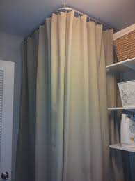 found a way to hide our water heater kvartal ceiling mounted curtain track from ikea