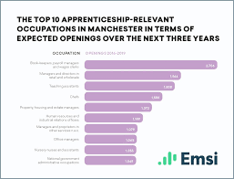identifying the potential for creating new apprenticeships in your once again there are a number of apprenticeship relevant occupations that appear in the graphs for both areas but there are also some interesting