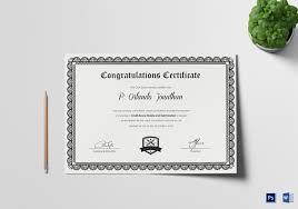 Congratulation Certificate Congratulation Certificate First Job Archives Wheel Of Concept