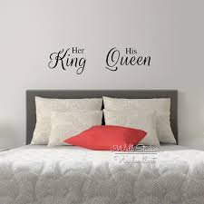 Bedroom Wall Quotes Magnificent Her King His Queen Quote Wall Sticker Love Quote Wall Decal Bedroom