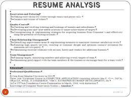 Resume Analysis Gorgeous Sample Resume Format 28 Idiomax