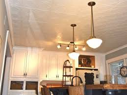 decorative ceiling tiles. White Kitchen With Styrofoam Ceiling Tiles Decorative