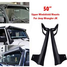 52 Inch Light Bar For Jeep Us 69 52 12 Off 2 Pcs 52 Inch Light Bar Front Bumper License Plate Mount Bracket Holder For Jeep Wrangler Jk 2007 2015 Offroad Day Light In Car