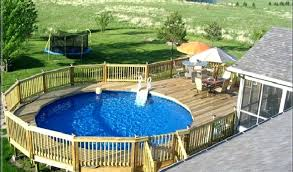 24 ft above ground pool by tablet desktop original size deck around round solar cover