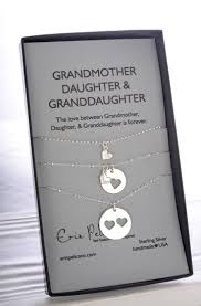 Grandma Gift. Grandmother Mother Daughter Jewelry. Gift for Her. Grandmother  of the bride