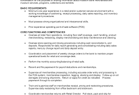 Sales Resume Retail Resume Examples Associate Duties Photo