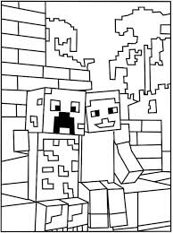 Minecraft Creeper Coloring Page Kids Activities Minecraft