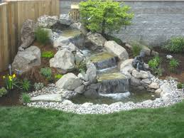 Backyard Waterfall Kits Lowes Outdoor Pond Pool Pictures. Backyard Pondless  Waterfall Designs Diy Pond Landscape Ideas. Waterfall Garden Feature  Backyard ...