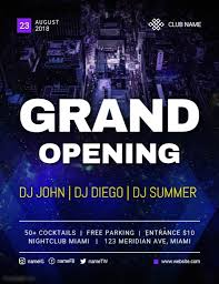 Free Grand Opening Flyer Template Grand Opening Of Night Club Flyer Template Postermywall