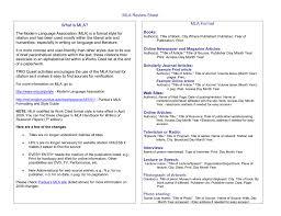 Title Mla Mla Review Sheet
