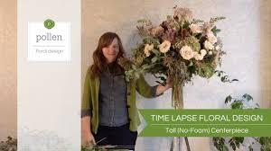 Floral Design Classes Chicago Time Lapse Floral Design Tall Centerpiece Designed Without Floral Foam