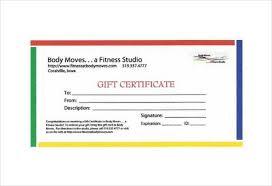Gym Gift Certificate Under Fontanacountryinn Com