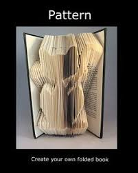 book folding pattern to create your own folded book art cat