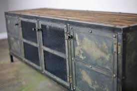 industrial furniture hardware. Vintage Industrial Media Console Furniture Hardware A