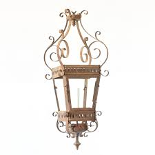 antique lanterned which is converted from a gas lantern to an electric lantern and is from