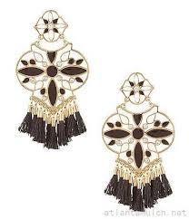 kate spade new york moroccan tile tasseled chandelier earrings 3205308652 black larger image