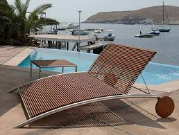 furniture Modern Wooden Outdoor Furniture Mid Century Patio