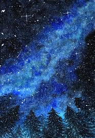 <b>Abstract</b> winter night sky with <b>beautiful</b> blue galaxy Vector | Premium ...
