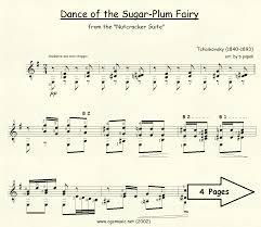 dance of the sugar plum fairy sheet music dance of the sugar plum fairy cgsmusic
