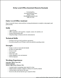 Entry Level Office Assistant Resumes Cover Letter For Office Clerk Awesome Entry Level Administrative