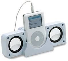 speakers for iphone. white portable folding speakers for iphone, ipod, ipad, mac, imac, ipod iphone