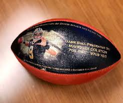 Record Gifts Brees Gifts Footballs For Helping Set Nfl Record Central Mo