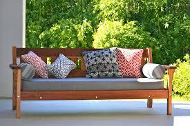 outdoor daybeds pillow wood daybed
