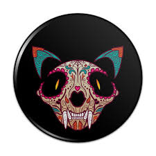 cat skull mexican day of the dead pact