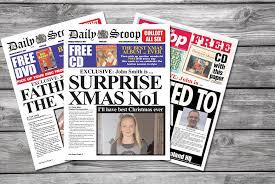 Spoof Newspaper Template Free Personalised Spoof Newspaper Shop Wowcher
