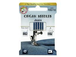 Organ Needle Company Machine Needles Jeans Size 100 16 5 Pc 1