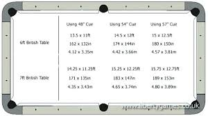 Pool Table Sizes Chart Official Pool Table Size Thequattleblog Com