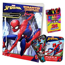 Top spiderman coloring pages for kids: Colorboxcrate Spider Man Far From Home Coloring Book Toy Set 3 Pack Includes Spiderman And Activity Spider Man Puzzle Crayons For Children Ages To 8 Educational Toys Planet