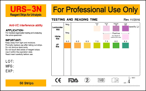Urinalysis Reagent Strips Chart Urs 3n Urine Test Strips Henso Medical