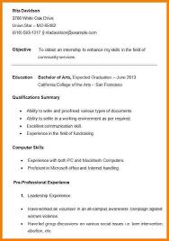 10 College Student Resume Formats Professional Resume List